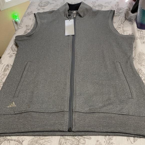 NWT adidas light gray vest